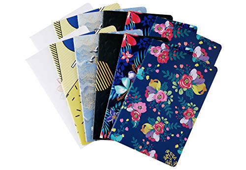 12 Pack Subject Notebook Journals Bulk for Travelers, Class and Office, Diary Writing Memo Book Planner with Lined Paper, College Ruled, 60 Pages/ 30 Sheets, 5.5x8.3 inch, Travel Note Book Set, XYark