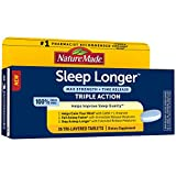 Nature Made Sleep Longer, Melatonin 10mg Time Release Tri-Layer Tablets, Helps Improve Sleep Quality, Fall Asleep Faster, Stay Asleep Longer, L-Theanine and GABA to Help Calm Your Mind, 35 Tablets