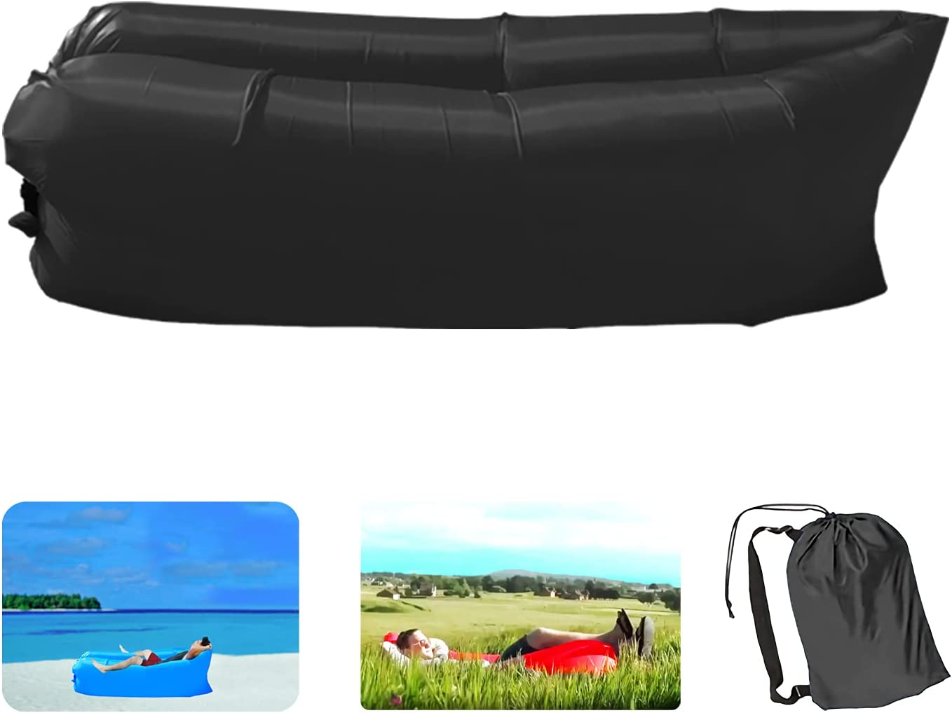 OWTING Inflatable Lounger Tulsa Mall Air Sofa Proof Anti Water Lightweight Max 42% OFF