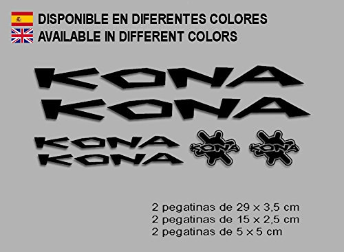 Ecoshirt 4J-UIC9-KGGQ Pegatinas Kona F122 Vinilo Adesivi Decal Aufkleber Клей MTB Stickers Bike, Negro