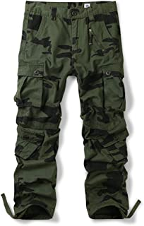Men's Army Cargo Camouflage Combat Plain Work Trousers 30-48