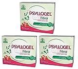 Buyfarma Promo Pack – 3 x Psyllogel Fibra de Psyllium pura al 99% sabor fresa – Favorece la regularidad intestinal – 60 bolsas + regalo a sorpresa
