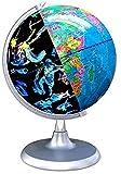 Globos del Mundo - Globo terráqueo 2 en 1 y Mapa de constelación Iluminado para Juguetes educativos de Aprendizaje geográfico/Adornos de decoración para el hogar y la Oficina, 20 cm / 8 Pulgadas