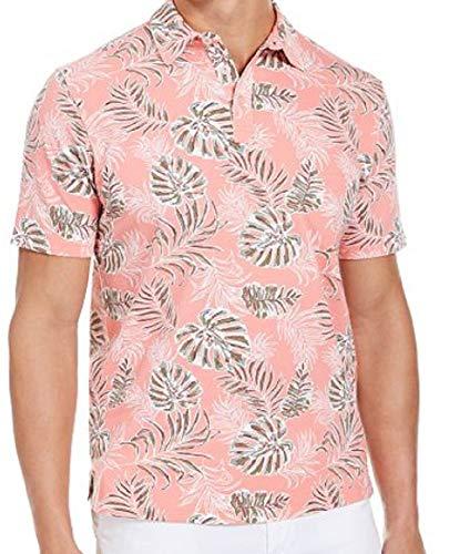 Tommy Bahama Canyon Leaves Stretch Cotton Golf Polo Shirt (Color: Shellrosa, Size XXL)