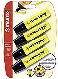 Marcador fluorescente STABILO BOSS ORIGINAL - Pack con 4 marcadores amarillos