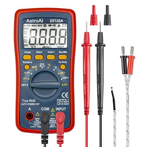 AstroAI Digital Multimeter, TRMS 4000 Counts Volt Meter Manual and...