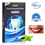 [42 Pezzi] Strisce Sbiancamento Denti, SUERW Sbiancamento Denti professionale...