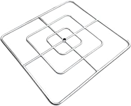 Onlyfire 30-inch Stainless Steel Square Fire Pit Burner, Triple Ring
