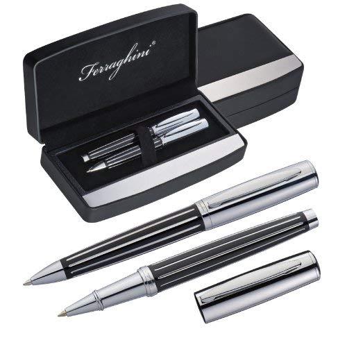 Ferraghini Schreibset mit Kugelschreiber und Rollerball im edlen Etui von notrash2003