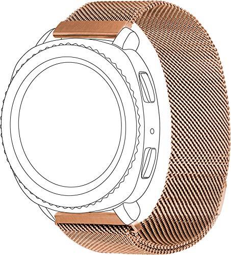 topp - Mesh Armband für Samsung Gear Sport, Galaxy Watch, Garmin vivoactive & vivomove, Rose