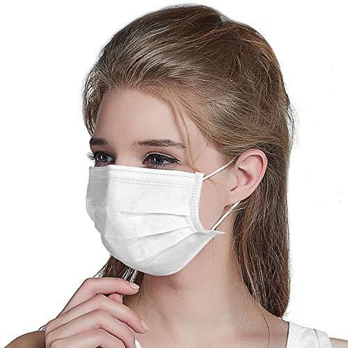 Masken 20 Stück Einweg OP-Maske Mundschutz Staubschutz Infektionsschutz Schutzmaske Atemschutzmaske Weiß-201 - 5