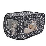 LTCTL Portátil plegable tienda de mascotas perro casa jaula mascota valla transpirable malla plegable gatos perro jaula de viaje parque al aire libre