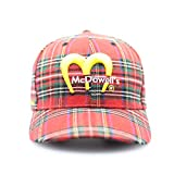 McDowells Red Plaid Hat