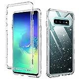 DUEDUE Samsung Galaxy S10+ Plus Case, Glitter Heavy Duty 3