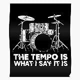 Drum Set Tapping Drumset Tap Sticks Teens Beat Stool El mejor y más nuevo póster para la sala de decoración del hogar de arte de pared