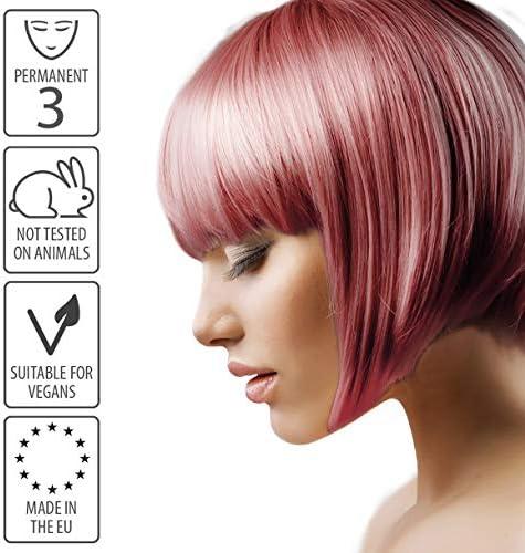 Smart Beauty Tinte de Pelo Permanente, Metálico Pastel Color con Nutritivo Nio-Active Plex Tratamiento Capilar, 150ML - Oro Color De Rosa, 150 ...