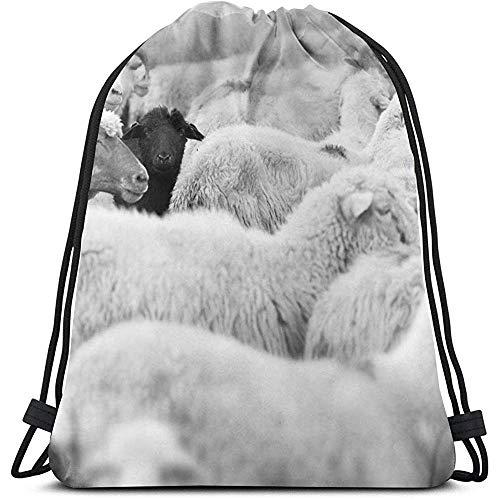 Arvolas One Black Sheep Herd Whites Tiere Wildlife Natur Kordelzug Rucksack Schultertasche Sporttasche