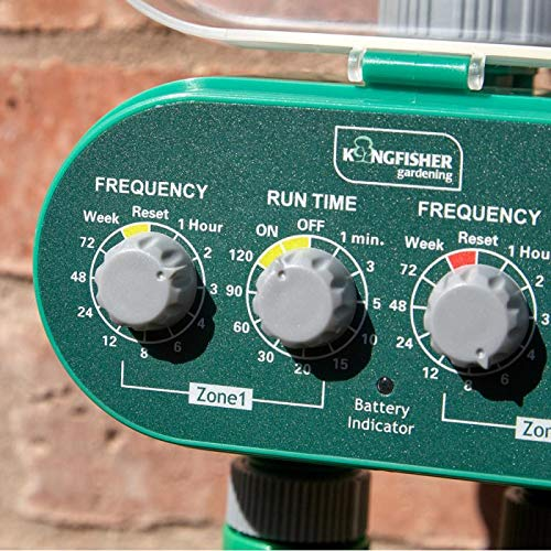 Kingfisher WT400 Twin Outlet Electrical Water Timer, Transparent, One Size