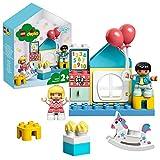 LEGO DUPLO Town - Cuarto de Juegos, Caja con Ladrillos de LEGO para Construir y Desarrollar la Creatividad, Incluye Muñecos para Recrear Escenas Cotidianas, a Partir de 2 Años (10925)