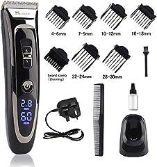 Hair Cutting Machine Men, 11-In-1 Professional Beard en Hair Cutter Set, 28 lengtes 7 bijlagen, haarknisser voor batterij en netbediening, haartrimmer met keramische / titanium bladen mannen haarscheerapparaat *