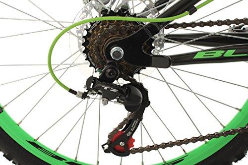 "KS Cycling Kinder Jugendfahrrad Mountainbike Fully 24"" Bliss schwarz-grün RH 38 cm Fahrrad, 24 - 3"