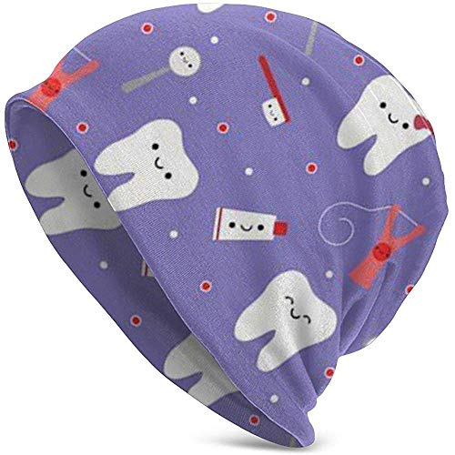 TABUE Slouchy Beanie - Gorro de punto para mujer (seda dental), diseño...