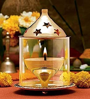 sdshopping Decorative Brass Akhand Diya for Pooja Oil Lamp