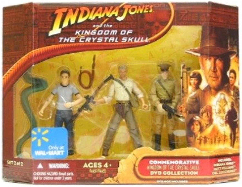 Indiana Jones mit RPG & Colonel Dovchenko - KINGDOM OF THE CRYSTAL SKULL   Knigreich des Kristallschdels - Walmart Action Figur Set 2 von 2 Exclusive