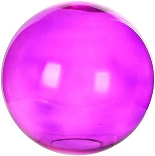 Topadorn Metallic Wonder Glass Gazing Globe Ball Outdoor and Indoor Decorations for Home Garden Patio Party Yard, Purple