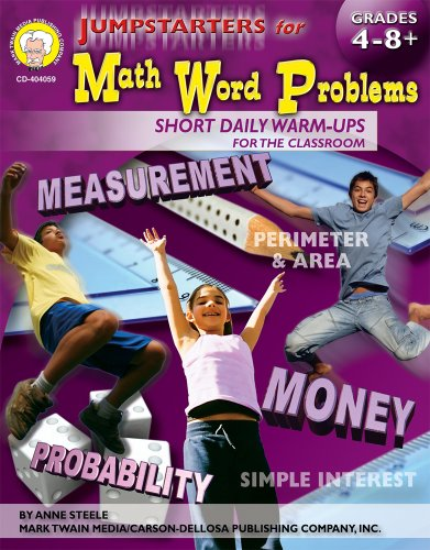 Jumpstarters For Math Word Problems Grades 4 12