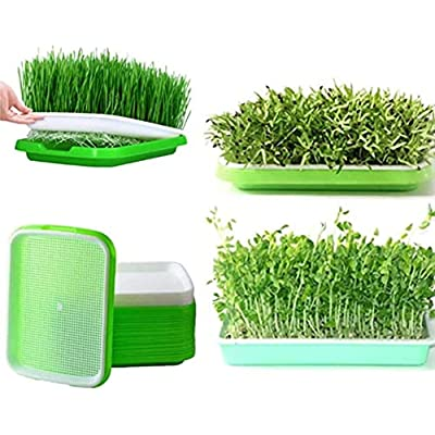 Seed Sprouter Tray, 5 Pack BPA Free Double Laye...