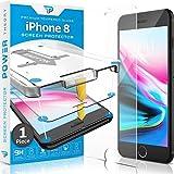 Power Theory Panzerglas kompatibel mit iPhone 8 - Schutzfolie mit Schablone, Panzerglasfolie, Panzerfolie, Glas Folie, Bildschirmschutzfolie, Schutzglas