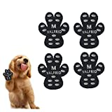 VALFRID Dog Paw Protector Anti-Slip Grips to Keeps Dogs from Slipping On Hardwood Floors,Disposable Self Adhesive Resistant Dog Shoes Booties Socks Replacemen M 40 Pieces