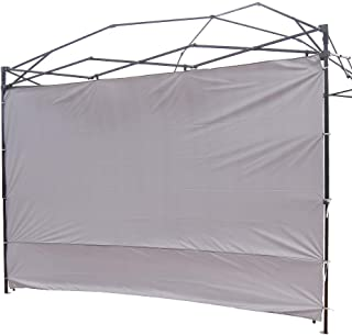NINAT Canopy Sunwall 10 ft Sunshade Privacy Panel for Gazebos Tent Waterproof, Sun Wall for Straight Leg Gazebos,1 Pack Sidewall Only,Grey