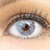 Sehr stark deckende und natürliche graue Kontaktlinsen 'Trento Gray' SILIKON COMFORT NEUHEIT farbig...