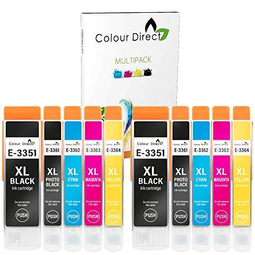 Colour Direct 33XL Compatible Ink Epson 33XL Cartridges Replacement For XP-530 XP-540 XP-630 XP-635 XP-640 XP-645 XP-7100 XP-830 XP-900-2 Sets