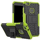 XINYUNEW Funda Huawei P10 Lite, 360 Grados Protective+Pantalla de Vidrio Templado Caso Carcasa Case Cover Skin móviles telefonía Carcasas Fundas para Huawei P10 Lite-Verde