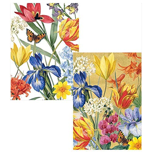 Caspari Redoute Floral Boxed Note Cards - 32 Note Cards & Envelopes