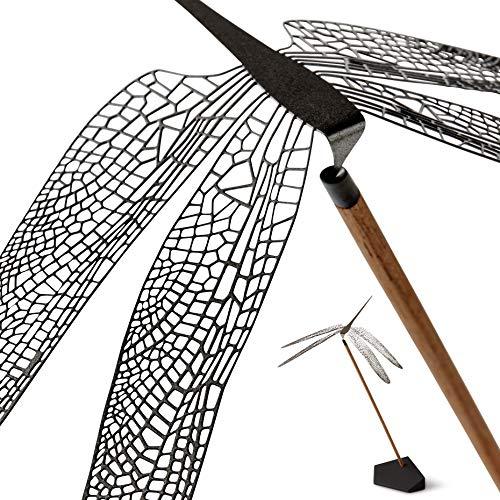 NAV Scandinavia Wonder Libelle Mobile – Kunstvolles Balance Deko Objekt, Beruhigender Bewegung & Balance, Tischdeko, Edelstahl, Skandinavisches Design, Größe Medium: 15x15x22 cm (Schwarz)