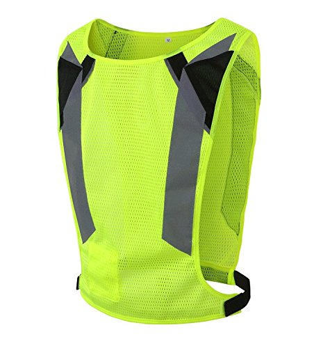 Beishuo giallo fluorescente riflettente sicurezza ciclismo abbigliamento maglia gilet riflettente per sport, attività all' aperto