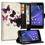 Book Style Wiko Wax Premium PU-Leder Tasche Flip Brieftasche Handy Hülle Kartenfächer mit Standfunktion für Wiko Wax - Design Flip MVC14