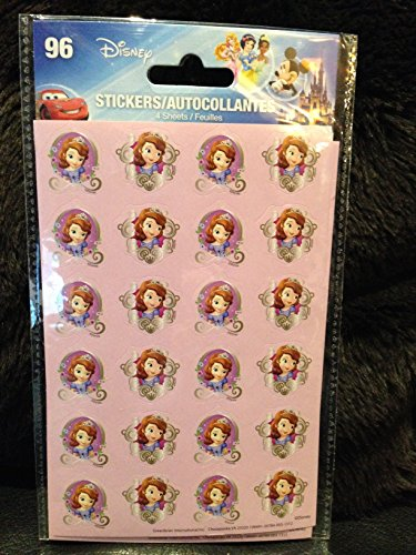 Sofia the First Princess Stickers 96 Stickers in Each Package