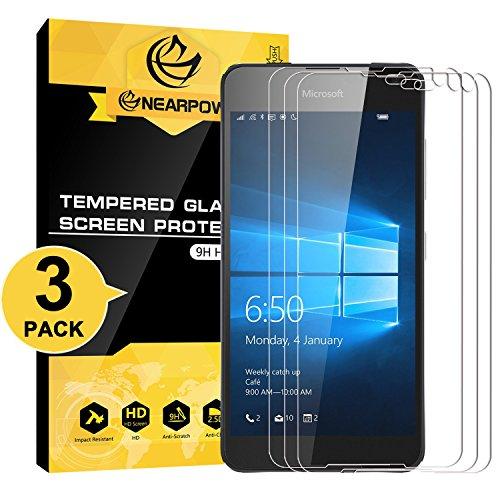 NEARPOW [3 Stück] Microsoft Lumia 650 Panzerglas Displayschutzfolie, Schutzfolie 9H Härte, Anti-Kratzen, Anti-Öl, Anti-Bläschen, Anti-Fingerabdruck