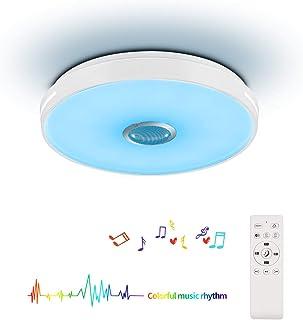 Horevo LEDシーリングライト リモコン操作 Bluetoothスピーカー搭載 24W 6畳 3240lm 無段階調光 調色 2700-6500K 取付簡単 常夜灯 明るさメモリ スリープタイマー 子供部屋 居間 寝室 和室 PSE認証済み