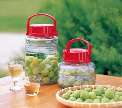 アデリア ガラス 保存びん 2L 低型 梅酒・果実酒びん まめ丸くん 日本製 785