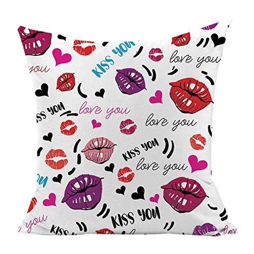 Happy Valentines Truck - Fundas de cojín decorativas para sofá, dormitorio, coche, decoración del hogar, 45,7 x 45,7 cm