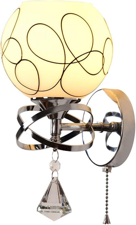 Moderne minimalistische schmiedeeiserne Wandleuchte Doppelkopf Einzelkopf Wohnzimmer Schlafzimmer Mode Wandleuchten Gedruckt Bett Kopf Zimmer Gang Beleuchtung Leuchte (Gre  Einzelkopf)