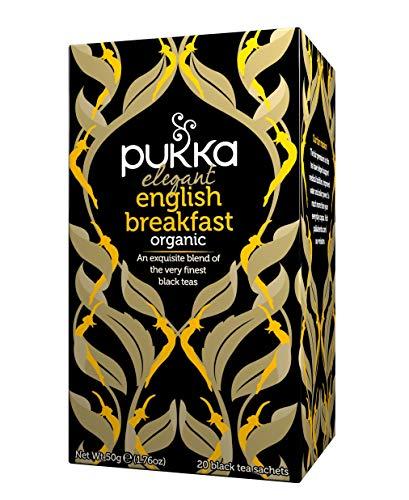 Pukka Elegant English Breakfast, Organic Black Tea with Nam Lanh (4 Pack,...