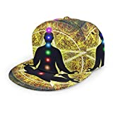 ZORIN 3D Flat Bill Gorra de béisbol Yoga Meditación Chakra Universo Snapback...