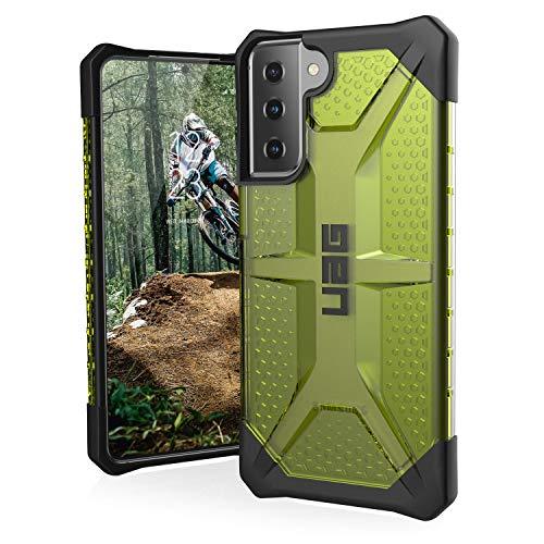 "Urban Armor Gear Plasma Schutzhülle Samsung Galaxy S21+ 5G (6,7"" Zoll) Hülle (Wireless Charging kompatibles Cover, Sturzfeste Handyhülle, Ultra Slim Bumper) - billie (neon grün transparent)"